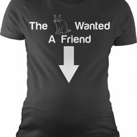 The Cat Wanted a Friend Maternity Shirt | CrazyDog T-shirts