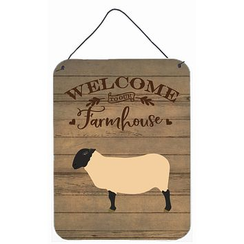 Suffolk Sheep Welcome Wall or Door Hanging Prints CK6916DS1216