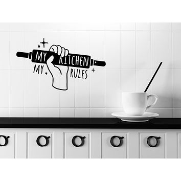Wall Vinyl Decal Quote Words Kitchen Tools Home Made Kitchen Decor Unique Gift (n1136)
