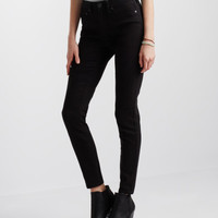High-Waisted Solid Uniform Jegging -