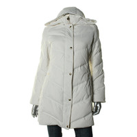 Guess Womens Down Filled Long Sleeves Puffer Coat