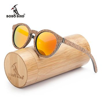 BOBO BIRD New Original Wood Sunglasses Women Handwork Retro Wooden Sun Glasses With Memorial Gift Oculos for Drop ship AG019