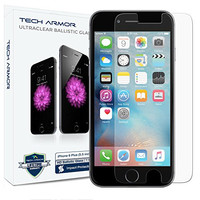 iPhone 6S Plus Screen Protector, Tech Armor Apple iPhone 6 Plus (5.5 inch ONLY) HD Clear Ballistic Glass - Maximize Resale Value - Max Clarity & Touch Accuracy