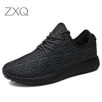 2016 Men & Women Shoes Casual Fashion Breathable Men Shoes Gray Black Flat Shoes Women Trainers Plus Size 36-46 No Logo