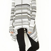 Michael Lauren Casper Draped Zip Up Hoodie