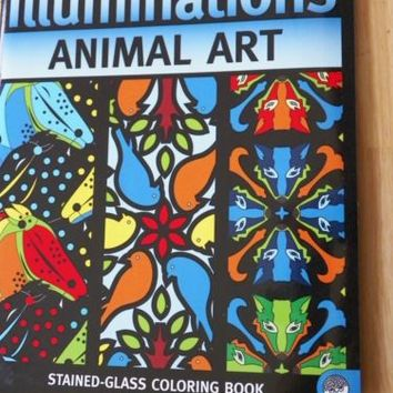 Illuminations Animal Art Stained Glass Coloring Book
