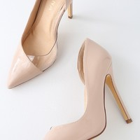 Issie Nude Patent D'Orsay Pumps