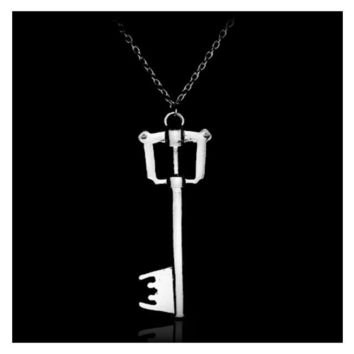 Kingdom Hearts Game Key Blade Metal Pendant Necklace