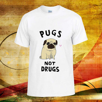 pugs not drugs - pugs not drugs tshirt - pugs not drugs shirt - clothing -  birthday - funny shirt - tshirt funny - tshirt birthday - youth