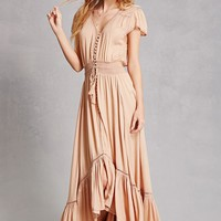 Boho Me Button-Front Maxi Dress