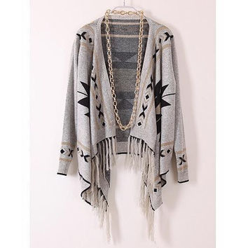 VINTAGE RETRO TESSEL FASHION CARDIGAN