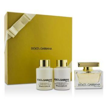 Dolce & Gabbana The One Coffret: Eau De Parfum Spray 75ml/2.5oz + Body Lotion 100ml/3.3oz + Shower Gel 100ml/3.3oz Ladies Fragrance