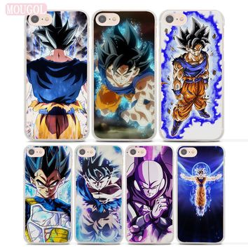 MOUGOL dragon ball z goku ultra instinct Style Thin clear phone shell case for Apple iPhone 8 8Plus 7 7Plus 6 6sPlus X SE 5 5s