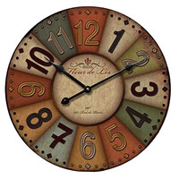 Hang Wall Clock Wooden Sildent Quartz  Y