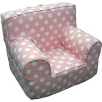 Pink Polka Dot Chair Cover for Foam Childrens Chair