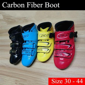 [2-Layers Carbon Fiber Upper Boot] Smooth Surface Inline Speed Skates Shoes for Adults Young Boys Girls Children Skating 30-44