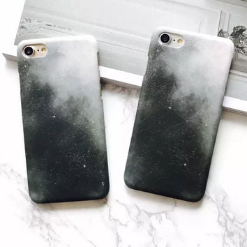Black Galaxy Case for iPhone 7 7Plus & iPhone se 5s 6 6 Plus Best Protection Cover +Gift Box-202