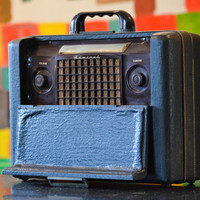 Bluetooth 1940s Admiral Portable Rechargeable Suitcase Radio