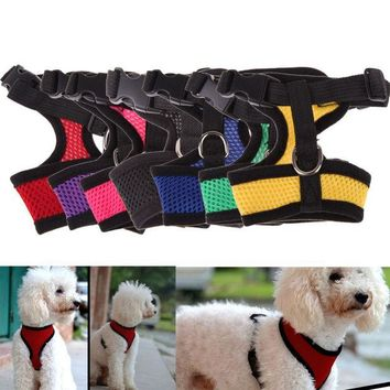 ac NOOW2 Fashion Dog Vest Soft Air Nylon Mesh Pet Harness Dog Clothes Dog Harness clothes for pet dog