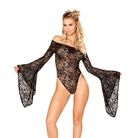 Rave Lace Sheer Gypsy Bodysuit