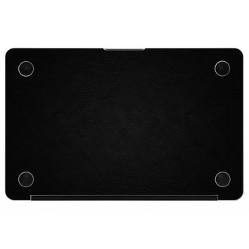 Black MacBook Leather Bottom Cover