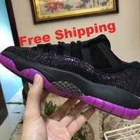 "[ Free  Shipping ] Nike Air Jordan 11 Low ""Rook To Queen"" Fuchsia lot AR5149-005  Basketball Sneaker"