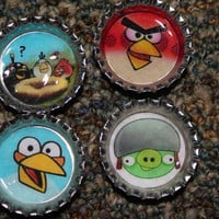 Cartoon Bottle Caps (Magnet, Pendant, Pinback)
