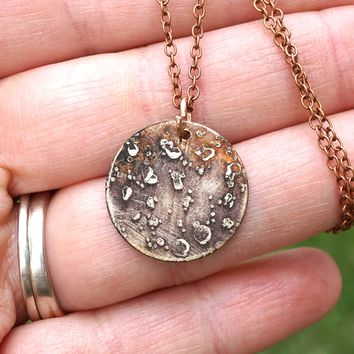 Moon or Planet Charm Necklace