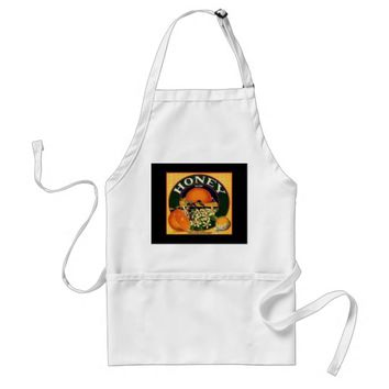 Vintage honey company advertisement apron