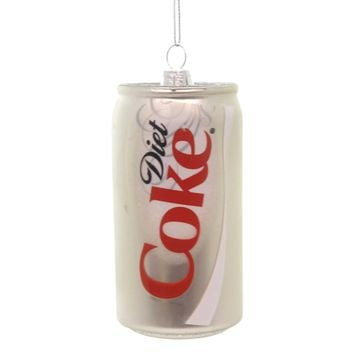 Holiday Ornaments COCA COLA GLASS DIET COKE CAN Glass Handcrafted Glass Cc4116