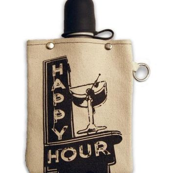 Happy Hour - Canvas Flask 240ml