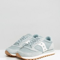 Saucony Jazz Original Windbreaker Trainers In Green S70353-2 at asos.com