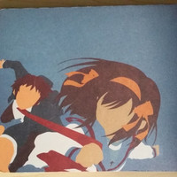 The Melancholy of Haruhi Suzumiya Anime Inspired Mouse Pad with Minimalist Design by Creators Guild