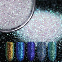 1g/box Shinning Nail Glitter Powder Gorgeous Nail Art Dust Manicure Chrome Pigment Glitters 5 Colors Nail Art Decorations