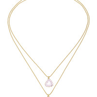 Triangle Kunzite Necklace | Moda Operandi
