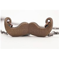 "Mustache Necklace - ""Linda"""