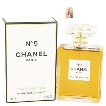 Chánel No 5 Pérfume For Women 3.4 oz Eau De Parfum Spray Free! MA 0.06 oz.