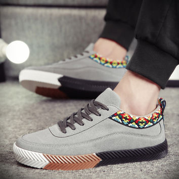 Men Fashion Casual Lace Up Shoes Casual
