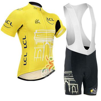 2016 Tour de France Cycling Clothing/Speckle Bicycle Cycle Clothes Wear Ropa Ciclismo/Breathable Racing BikeCycling Jersey