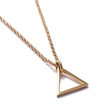 Gold Triangle Necklace for Men