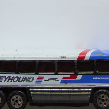Vintage Buddy L Metal Greyhound Americruiser Bus Toy 1979