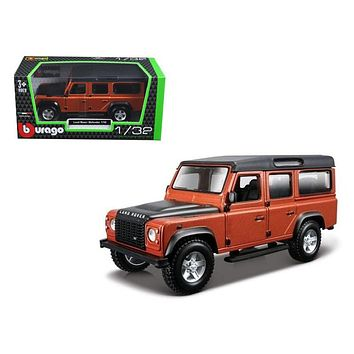 Land Rover Defender 110 4 Doors Orange 1:32 Diecast Model Car by Bburago