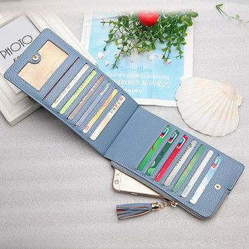 Women Ultra-Thin Multifunction Wallet 13 Card Slot