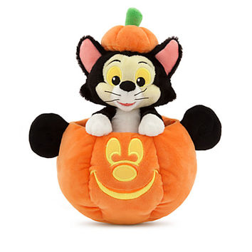 Figaro in Mickey Mouse Jack O'Lantern Plush - Small - 11''