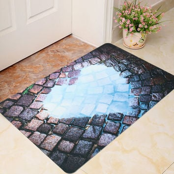 40x60cm 3D Cool Funny Room Door Mat Bathroom Kitchen Non-slip Floor Rug Carpet