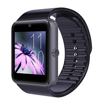 Bestseller2888 Bluetooth Smartwatch with SIM Card Slot and NFC Smart Health Watch for Android and IOS Smartphone - Gray Black band