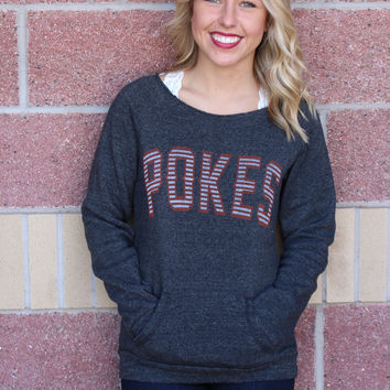Pokes stripe maniac sweatshirt