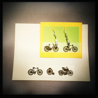Earrings made from recycled Bicycle Spoke Nipples / Sterling Silver and Recycled all in one! / Upcycled / A great gift for your bike girl!