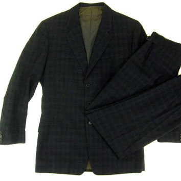 Vintage 1950s Bespoke Suit from Savile Row Tailor Hicks and Sons - Handmade Custom One of a Kind 1960s OOAK - Men's Size 38 39 Medium