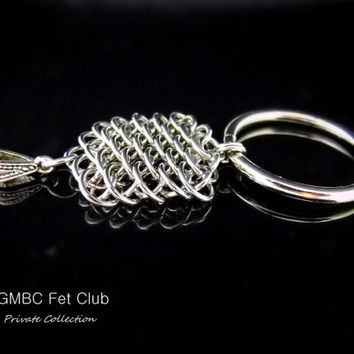 Discreet Day Collar - Steel Dragonscale and O Ring Pendant